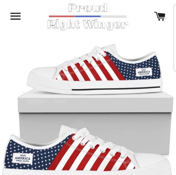 Maga Low Top Patriotic Tennis Shoes